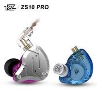 ZS10 Pro 10 adet (4 BA + 1 DD) Hibrid Teknoloji HIFI Ses Kulak Kulaklık WIHT 2 Pin 0.75mm Fiş Kulaklıklar Kulaklık