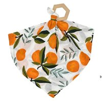 Asciugamani di saliva infantile Legno Teether Toy Cotton Toddler Bandana Dribblare Bibs Pinafore Solid Trian Triangle Asciugamani Sea DHC6826