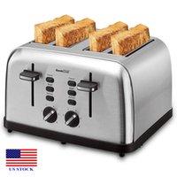 Fabricantes de pan Tostadora Extra Amplia Slots 4 Rebanada de acero inoxidable C0016 EE. UU.