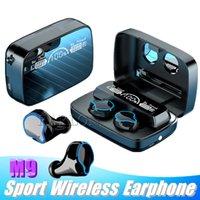 M9 무선 이어폰 BT 5.0 TWS 미니 블루투스 이어폰 헤드폰 Buetooth 이어 버드 소음 취소 충전 상자 LED 디스플레이