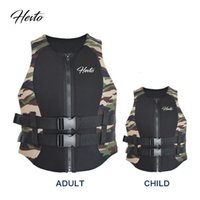 Safe High Quality Neoprene Floating Life Jacket Vest with Pvc Epe Foam for Adult Water Sports Customized Available