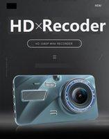 Nuevo 4 pulgadas 1080p coche DVR pantalla táctil HD Doual Lente de la lente de conducción