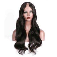 Long Wavy U Part Human Hair Wigs Virgin Malaysian Body Wave Remy Glueless Human Hair Upart Wig Middle U Openning 1\