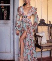 Plaj Elbise Yaz Çiçek Mayo Baskı Kemer Mayo Kadınlar Uzun Kapak Up Kapalı Omuz Beachwear Bandeau Durum Kadın Mayo