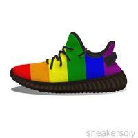 Gay Pride Rainbow Flag Running Shoes Mesh Print Men's Women's Casual Sports Flats