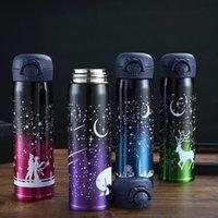 Water Bottles 500ml Stainless Steel Double Wall Luminous Starry Sky Vacuum Flask Cup Coffee Tea Milk Travel