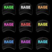 Party Masks Selling Night Glow EL Wire Fishing Hat Dance DJ Flash LED Light Baseball Caps Letter Customized