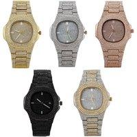 Regarder la boîte à 5 couleurs de hip-hop de quartz de montre