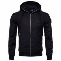 Herbst Winter Herren Oberbekleidung Jacken Beiläufiger Mantel Mode Mann Mit Kapuze Baumwolle Solide Farbe Jacke Kleidung Männliche Tops R0tx #