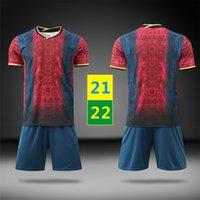 US FAST 2021 AWAY MAILLOTS Fotbollsuppsättningar 21 22 Män Tracksuits Kortärmad kostym Fotboll Sport Kids Uniforms Barnträning T-shirt 2022 med logotyp # BSL-21B1