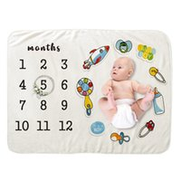 Sublimated Milestone Blanket Month Week Plant Leaf Flowers Toys Printing Girl Boy Children Kids Baby Cover Flannel Blankets Name Picture Sublimation