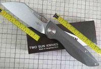 Twosun Knives Outdoor 14C28N TC4 in titanio anteriore aperta coltello tascabile TS270