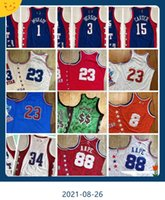 Autêntico real costurado retro all-star 88 aape jerseys vintage 1 Tracy 3 Allen McGrady Iverson 15 Vince 34 Shaquille Carter Oneal Jersey