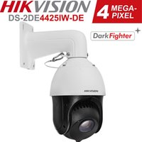HIKVISION IP PTZ 카메라 H.265 + 4MP DS-2DE4425IW-DE 25X Darkfighter Speed Dome PTZ 카메라로 100M 벽 마운트가있는 오디오