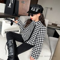 Kids plover case short trench coat lady style children woolen princess tops girls pearls single breasted long sleeve outwear Q2339