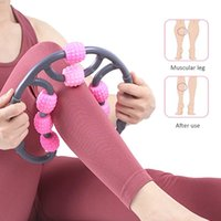 Massage Stones & Rocks U Shape Yoga Roller 8 Wheels Trigger Point For Arm Leg Neck Muscle Body Fatigue Lifted Tool Health Therapy Care Stres