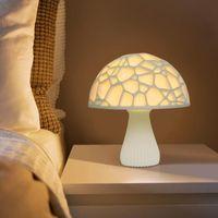Table Lamps Tops 3D Mushroom Shaped LED Night Light Moon Decorate Lamp Room Decoration Anime Figure Kawaii Home Decor Drop