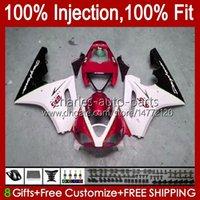 Spritzguss-OEM für Triumph Daytona 675R 675 R 2002 2003 2004 2005 2006 2007 2007, Körper 106HC.84 Daytona675 Glossy Red BLK Daytona 675 02 03 04 05 06 07 08 Verkleidungsset