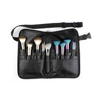 Ferramenta saco maquiagem maquiador cinto cinta cosmética escova 24 bolsos cintura de grande capacidade y79y