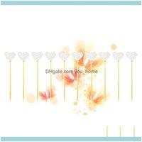 Inicio GardenPCS Papel Glitter Forma de corazón Torta Magdalena Toppers Picks para niños Decoración de fiesta de cumpleaños (SIER) Otros suministros festivos DROP D