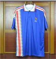 1994 1996 1998 Ретро версия Soccer Jersey FR 96 98 02 04 06 ZIDANE HENRY MAILLOT DE FOH 2000 2004 HOME DOME DOWAL TREZEGEGUET