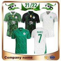 Version des fans Version 2021 Africa Cup Algérie Nº 7 Mahrez Soccer Jersey 21/22 Édition Spéciale Fegghali Brahimi Belaille Bounedjah Maillots de Chemise de football Atal Uniforme