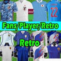 2022 Japão Japão Jersey Copa do mundo 1994 1998 2002 2006 Jerseys Qatar Retro Samurai Azul Minamino Atom Tsubasa Kagawa Okazaki Nagatomo Hasebe