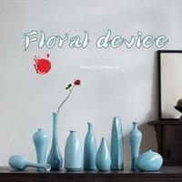 꽃 세라믹 꽃병 중국어 푸른 신선한 홈 장식 크리 에이 티브 말린 정렬 데스크탑 화병