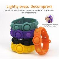 Bubble Fidget Toys Sensory Ring Bracelets Party Favor Puzzle Press Finger Bubbles Stress Bracelet Wristband Decompression Keychain GWF7737