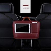 Car Organizer Net Pocket Handbag Holder Organizor PU Leather Seat Storage For Accessories Interior Woman Man