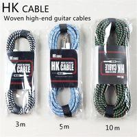 HK intrecciato cavo rumore riduzione della frequenza cavo folk box elettrico per chitarra acustica per chitarra per basso cavo strumento musicale