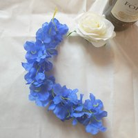24 colori Elegante fiore artificiale glicine fiore vite 34 cm casa giardino parete appeso fai da te rattan per la festa dell'hotel decorazione di nozze 494 S2
