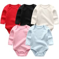 Baby Girl Boys Romper born Sleepsuit Infant Clothes Long Sleeve Solid color Jumpsuits Unisex custome 210910
