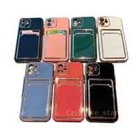 Cell Phone Cases Electroplating Integrated Card Package TPU Suitable for IPhone 11 12promax Protective Cover