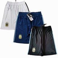 2021 2022 الأرجنتين Soccer Shorts 20 21 22 ميسي المنزل بعيدا كرة القدم السراويل الرياضية S-2XL