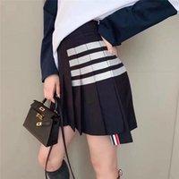 Chicas mujeres verano falda sexy alta cintura arco thom plisado falda corta utu vestido de falda