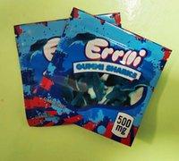 Trrlli Trolli Errllli Gummi Köpekbalıkları Çanta 500mg Gummy Edibles Ambalaj Mylar Çanta Koku Proof Çerezler Mylar3.5 Warheads