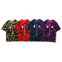 T-shirt da uomo estate di alta qualità Camouflage Casual Adolescente Adolescente Moda Stampa Tees Men Tops Classic Manica Corta Sizem-3XL