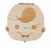 2020 الجملة-مربع الأسنان للطفل حفظ الحليب الأسنان الفتيان / الفتيات صورة صناديق تخزين الخشب هدية الإبداعية للأطفال السفر كيت C1892 126 Z2