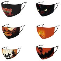 Halloween Day Festival 3d Printed Face Mask Cartoon Design for Men Women Kids Adult Party Masks Outdor Sports Washable Reusable Breathable Anti Dust Respirator