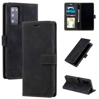 Anti-theft Swipe Wallet Leather Cases For Samsung Galaxy S21 Ultra Note 20 S20 A52 A72 A22 5G A32 A03S A02S A42 A21S Hand Feel Credit ID Card Slot Holder Business Book