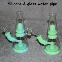 Silicone Smoking Bong hookah Silicon Oil Rigs Shisha Hookahs glass Water Pipe Tobacco Herb Pipes