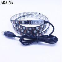 0.5 / 1 / 2M DC5V RVB Dimmer Flexible LED Strip Light IP65 TV Diode Tape Diode SMD 60Chips / M Décor à la maison de plein air LEDStrip Strips