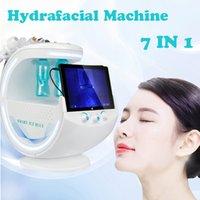 Máquina hidráulica Hydrafacial Smart Ice Blue Ultrasonic RF Aqua Skin Rejuvenecimiento Dermabrasion Hydra Facial Skin Analyzer Machine