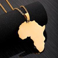 Semplice collana catena clavicola creativa matherland inox acciaio inox Africa mappa pendente signore partito gioielli moda gioielli regalo collane