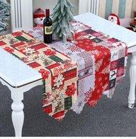 Fournitures de fête Décorations de Noël créatives Calico Table Runner Européenne et Américaine Restaurant Tableau de famille HWB8434