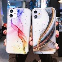 Pırıltılı Yıldızlar Telefon Kapak iphone 6 6 s 7case 8Plus 11 Pro XR XS X Max 11Promax SE2020 Renkli Mermer İpi Standı Durumda