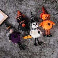 할로윈 장식 매달려 멋진 봉 제 장난감 호박 마녀 검은 고양이 유령 스파이더 라운드 밸리 모자 테이블 장식 파티 바 3254 Q2