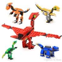 12 adet Yapı Taşları Kapsül Dinozor Serisi Mini Hayvan T-Rex DIY Eğitim Çocuk Oyuncak Hediye Komik Yumurta Aksiyon Oyuncak 04