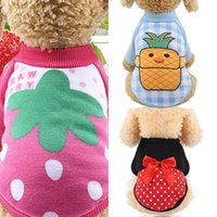 Dog Apparel Cloth For Small Dogs Soft Pet Sweater Fruit Print Fashion Clothing Winter Chihuahua Clothes Classic Outfit